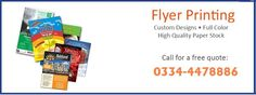 Flyers Printing Service at Click2Print….  Flyers are useful pieces of information that allow you to convey a quick snapshot of your product or service offering. They can also be mailed and are inexpensive ways to advertise a product or service. Flyers are single-page leaflets, printed single-side or double side.  —Contact us: Ph: 042-35941824  Cell: 0334-4478886  Skype: click2print1  Gtalk: faizi.click2print