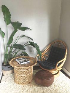 Vintage Rattan Bamboo Swivel Lounge Chair, Boho Chic Furniture, Sunroom, Patio, Deck, Porch, Furniture, Fan Chair, 1960s Retro, 1970s Home