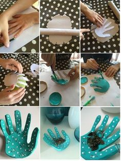 Salt Dough Handprint Bowl – A salt dough craft idea Clay Projects, Clay Crafts, Fun Crafts, Diy And Crafts, Mothers Day Crafts For Kids, Fathers Day Crafts, Diy For Kids, Salt Dough Crafts, Kids And Parenting