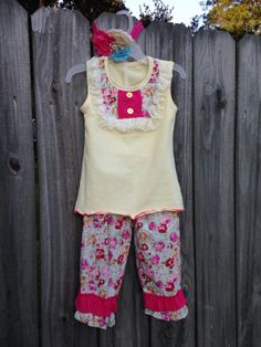 A personal favorite from my Etsy shop https://www.etsy.com/listing/247854792/girls-vintage-floral-set