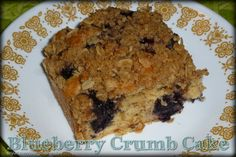 Along the Road: Blueberry Crumb Cake
