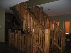Beautiful Square Timber Staircase