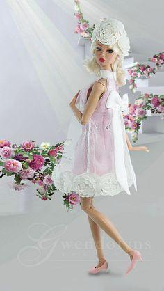 Barbie Fashion Love....Valentine Blush | Flickr - Photo Sharing! Barbie And Ken, Barbie I, Barbie Dress, Barbie World, Barbie Clothes, Barbie Costume, Fashion Royalty Dolls, Fashion Dolls, Barbie Patterns