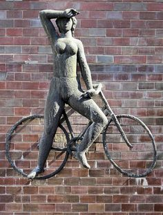 Garden Sculpture, Bicycle, Outdoor Decor, Home Decor, Water Pond, Bicycle Kick, Bike, Bicycles, Interior Design
