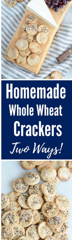 Homemade Whole Wheat Crackers- Two Ways! | CaliGirlCooking.com