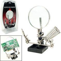 Trademark Tools 75-Mg8949 Trademark Tools Helping Hand 3.5 Inch Magnifier W/ Solderin