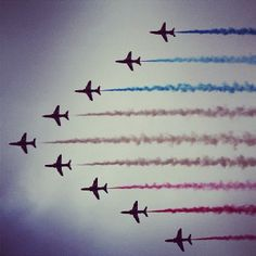 Red Arrows Opening Ceremony Olympic Games London 2012