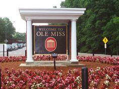 Ole Miss - University of Mississippi Rebels football - campus entrance