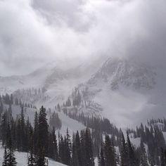 . #skiing #snowbird #snow #snowporn #cloudporn
