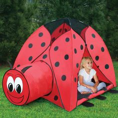 This is awesome. Every little girl should have a ladybug tent. :)