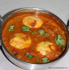 Egg Kurma Recipe is a delicious gravy recipe of tomato korma and boiled eggs simmered into it. The kurma tastes good with plain rice or mainly bagara rice..