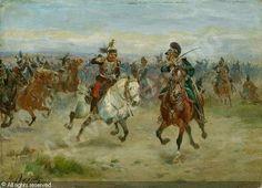 DUPRAY Henri-Louis - Kavallerie im Schlachtengetümmel