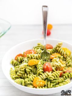 Baked Pesto Pasta is a quick recipe that comes together in minutes and is full of flavors! Find the recipe on http://www.cookwithmanali.com