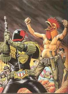 Judge Dredd, Max Normal, Don Uggie and others – by Brian Bolland