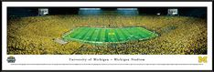 Michigan Wolverines Football Panoramic - Under the Lights $99.95