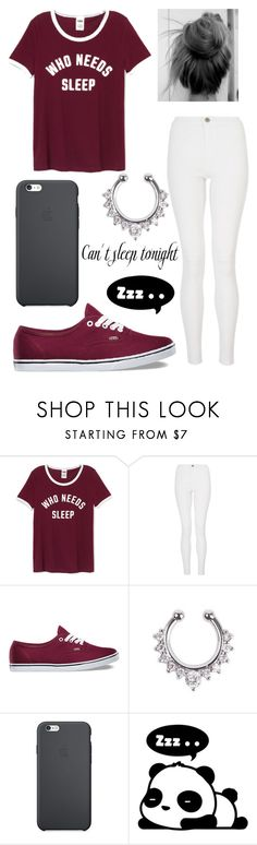 """""""Who Needs Sleep"""" by aissa1026 ❤ liked on Polyvore featuring Quiz, Vans and Hollywould"""