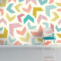 Geometric wallpapers by Surface Pattern Designer Sian Elin