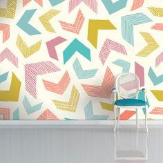 Geometric wallpapers by Surface Pattern Designer Sian Elin