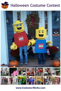 A bunch of Homemade Costumes for Kids - a lot of homemade costume ideas!  #halloween #diy #costumes