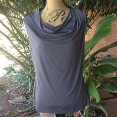 REDUCED Worthington gray cowl  neck tank REDUCED Worthington gray cowl neck tank.  95% polyester and 5% spandex. This has been worn but is in good condition Worthington Tops Tank Tops