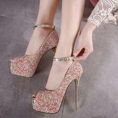 Fashion Glitter Platforms Peep-Toe Mary Jane Pumps Black/Red ($15.00) http://www.clubwholesale.net/shoes/pumps