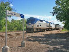 Amtrak's Empire Builder at Stanley, North Dakota.