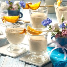 Buttermilch-Müsli-Smoothie -  Ein fruchtiges Müsli-Getränk zum Frühstück