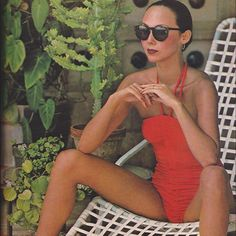 Marie Helvin in Vogue, May 1977, 'Sundressed in Honolulu', by David Bailey Swimsuit