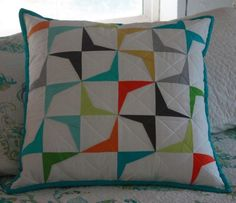 Paper Pieced Pillow - Free Pattern available on Craftsy.com