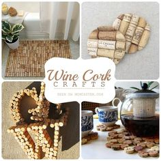 Wine cork crafts: Between our friends we certainly drink enough wine to make all these