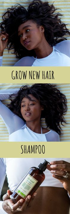 Grow New Hair Shampoo / Focuses on your scalp and follicles for faster, longer hair growth.