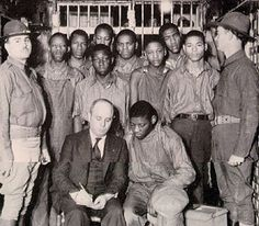 "The Scottsboro Boys Case.  Falsely Accused of rape by two white women who later recanted their story....after several trials.  Ironically George Wallace ""pardoned"" them many years later.  Only recently the state of Alabama apologized."