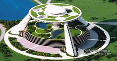 Future architecture, technology and modern city system Green Architecture, Organic Architecture, Futuristic Architecture, Amazing Architecture, Chinese Architecture, Future Buildings, Unique Buildings, Office Buildings, Retro Futuristic