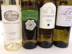 Four Vinho Verdes Not to Miss out on tasting. Tapada do Marquês 2013, Quinto de Curvos Avesso 2013, Quinta de Santa Maria Arinto 2013 and Quinta do Tamariz Loureiro Escolha 2013 #vinhoverde #winelover #wine