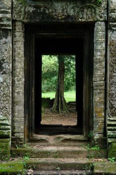 Doorway in Angkor Thom, Cambodia