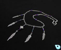 Native tribal necklace Native jewelry boho by CervelleDoiseau