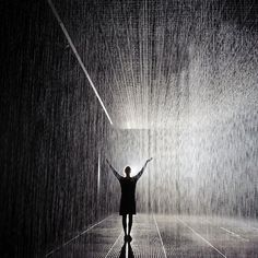 Mystical Indoor Rain Room Where Visitors Don't Get Wet - My Modern Metropolis