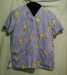 "/""NURSES ARE TWEET!/""  Nurse//Doctor Scrub Set fit American Girl Colorful Tweety"