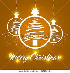 Abstract Merry christmas balls design background with copyspace. Xmas Collection Concept.