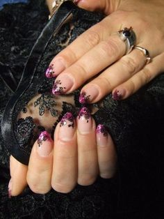Pink And Black Lace Nails   Living Room Design 2016