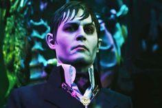 Johnny Depp as a vampire in Tim Burton's Dark Shadows (click for the trailer)