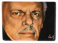 Self-portrait  Oil on wood G. Landi - 2012