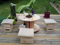 pallet cable spool recycled 7