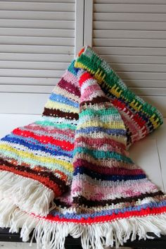 Beautiful. Love scrappy happy vintage blankets.