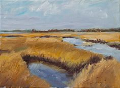 Low Country Marsh Grass Water Coastal by ClairHartmannFineArt, $185.00
