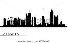 atlanta city skyline silhouette pinterest atlanta city skyline rh pinterest com New York Skyline La Skyline Day