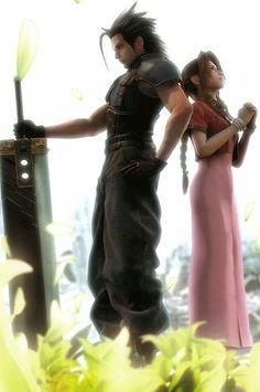 Final Fantasy VII Zack Fair and Aerith Gainsborough