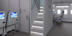 """Hamburg, Airbus, a global leader in aeronautics, space has developed a """"New Forward Stairs"""" (NFS) option which was presented at the Aircraft Interiors Expo (AIX) in Hamburg"""