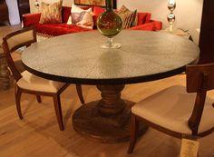 41 Metal Zinc Top Dining Tables Ideas Dining Dining Table Zinc