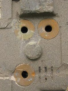 Anthropomorphism. (Wall Drain Face)